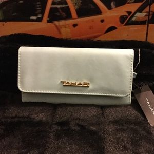 Tahari sky blue wallet